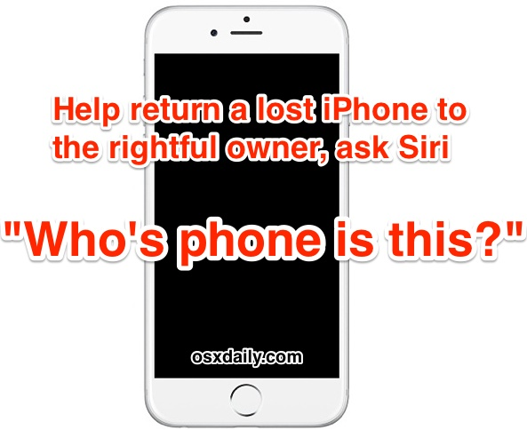 Help return a found iPhone to the owner with Siri