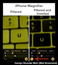 iPhone Magnifier Inverted