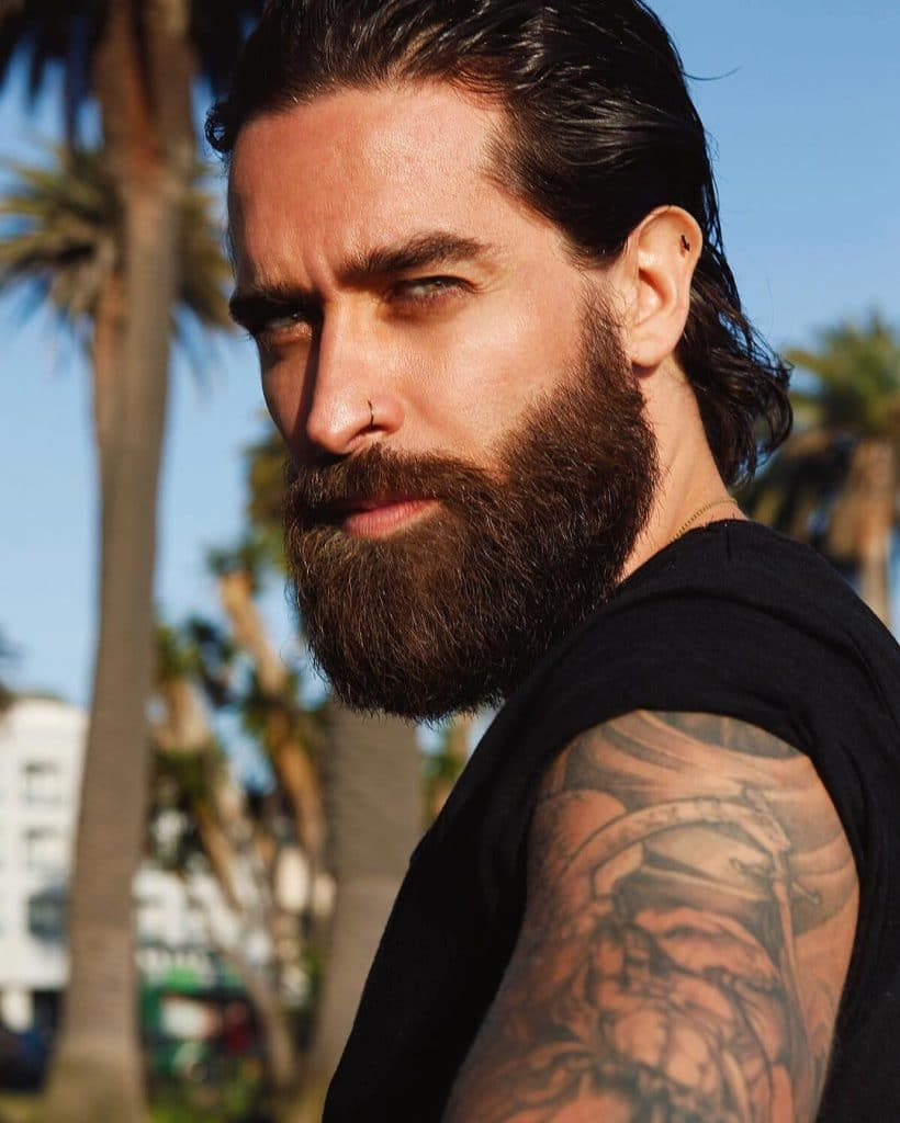 long hair for men with beards