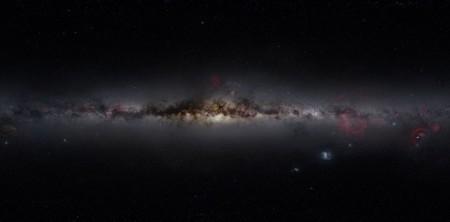 галактика Млечный путь. Снимок спутника Коби