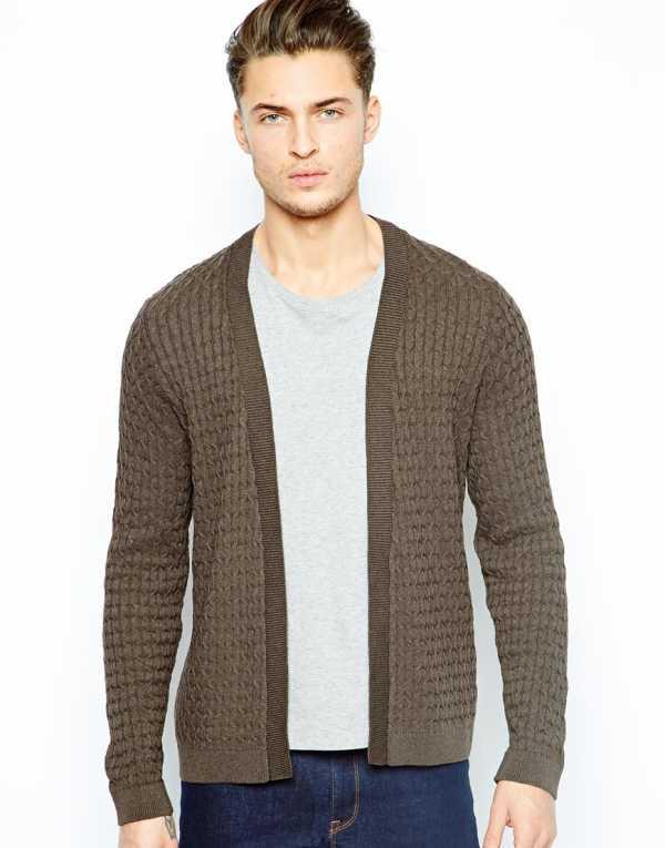 d4790d91d250 Мужской кардиган без пуговиц можно носить с водолазками, футболками,  свитерами. Все это стоит отнести к выходному кэжуал стилю.
