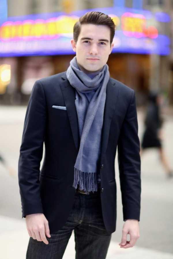 45f0a5648e6 Как повязать красиво шарф мужчине – Как завязать шарф мужчине - 6 ...