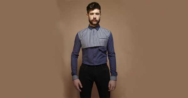 dff899b843c5fef Из этой же серии рубашка, но с другими «фишками» и принтом исключительно в  полоску:
